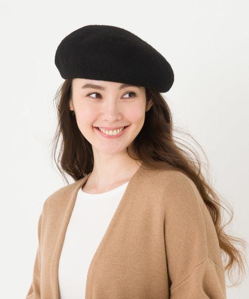 ikka(イッカ)の「バスクベレー帽(ハンチング/ベレー帽)」|ブラック