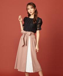 MIIA(ミーア)のプリーツ切替スカート(スカート)