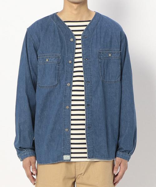 通販 【orSlow】ノーカラーデニムシャツ Bshop MEN(シャツ/ブラウス) orSlow(オアスロウ)のファッション通販, イワタシ:cdbe1aaf --- blog.buypower.ng