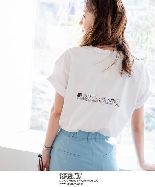 【ウィメンズ】クリニクラウン SNOOPY (スヌーピー) プリントTシャツ