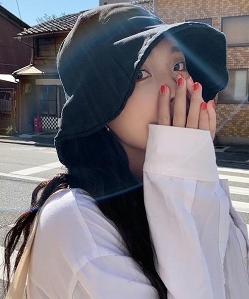 シンプルサファリハット ハット コットン バケットハット 韓国 中国 チャイナ コリア ストリート