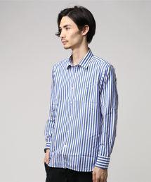 MACKINTOSH PHILOSOPHY(マッキントッシュ フィロソフィー)の「ストライプ セミワイドカラー MPシャツ(シャツ/ブラウス)」