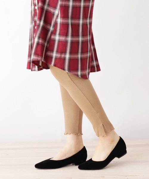 SHOO・LA・RUE(シューラルー)の「裾メローリブレギンスパンツ(パンツ)」|ブラウン