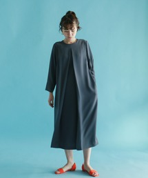 NOMBRE IMPAIR(ノンブルアンペール)の【BBM】ダブルクロス フロントタックワンピース(ドレス)