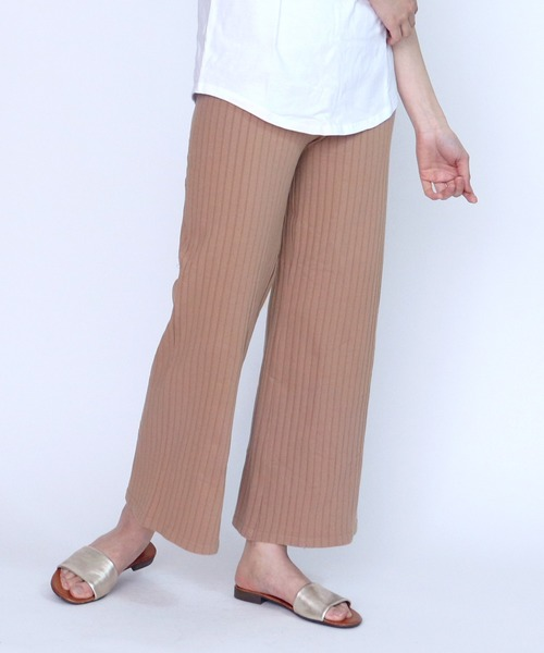 【Hanes/ヘインズ】1P Hanes Undies Rib Wide Pants