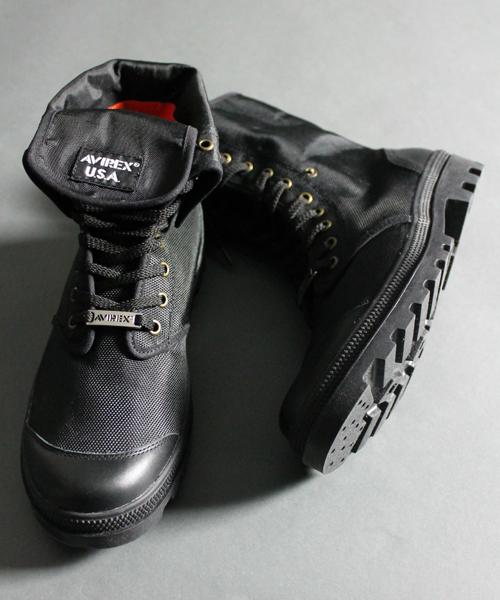 AVIREX(アヴィレックス)の「スコーピオン ハイ ナイロン/ SCORPION HI NYLON/ avirex/ アヴィレックス(ブーツ)」|ブラック