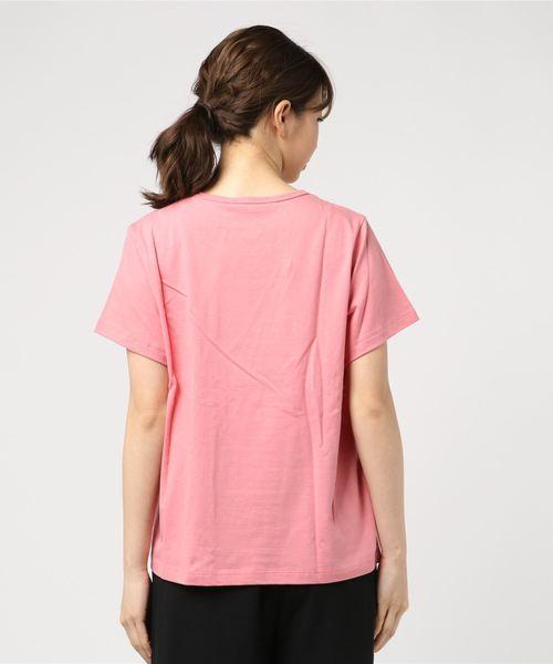 PRINTED DAISY TEE/プリンテッド デイジー キャップスリーブ スクープネック Tシャツ