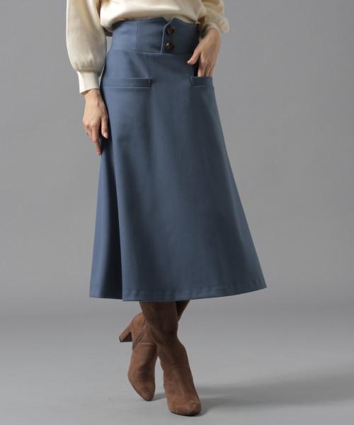 Andemiu(アンデミュウ)の「フロントボタンAラインスカート817390(スカート)」|詳細画像