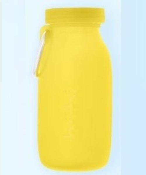 fridge(フリッジ)の「【bubi】ブビ  450ml ハイグレードシリコンボトル(グラス/マグカップ/タンブラー)」|レモンイエロー