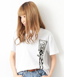 devirock(デビロック)のdotmasterコラボ プリント半袖Tシャツ  レディースサイズ(Tシャツ/カットソー)