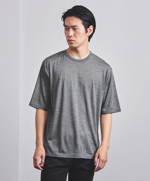 <BATONER(バトナー)> ウォッシャブル クルーネック Tシャツ