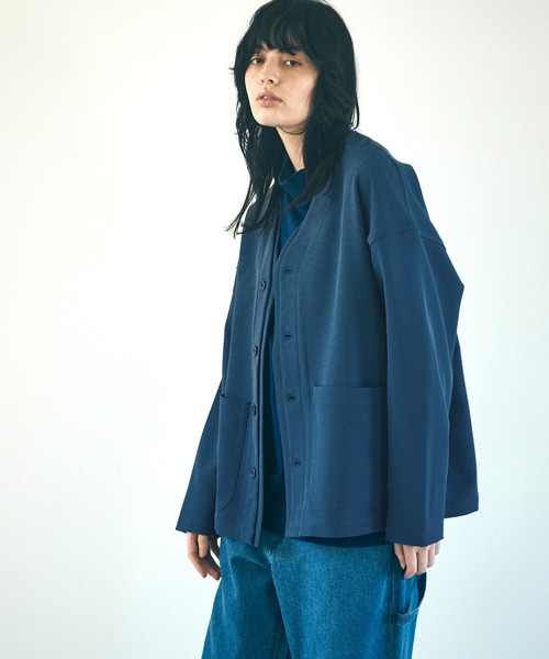 ルーズシルエットレイヤードノーカラージャケットEMMA CLOTHES 2021 SPRING