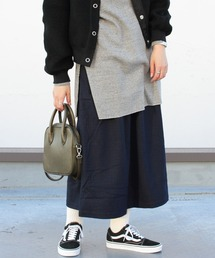 GRAMICCI/グラミチ ウールブレンド ロングフレアスカート WOOL BLEND LONG FLARE SKIRT GLSK-21F061ネイビー