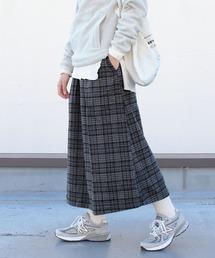 GRAMICCI/グラミチ ウールブレンド ロングフレアスカート WOOL BLEND LONG FLARE SKIRT GLSK-21F061チェック