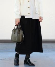 GRAMICCI/グラミチ ウールブレンド ロングフレアスカート WOOL BLEND LONG FLARE SKIRT GLSK-21F061ブラック