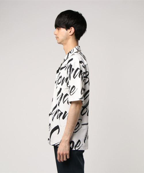 オープンカラーシャツ 総柄開襟シャツ ビッグサイズ アロハシャツ