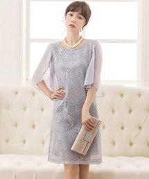 4595e9b30852b DRESS STAR(ドレス スター)の「フリル(シフォン)スリーブレースワンピース(