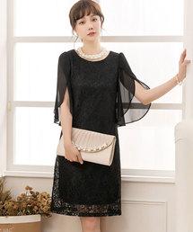 4d4158d3d499b DRESS STAR(ドレス スター)の「フリル(シフォン)スリーブレースワンピース(