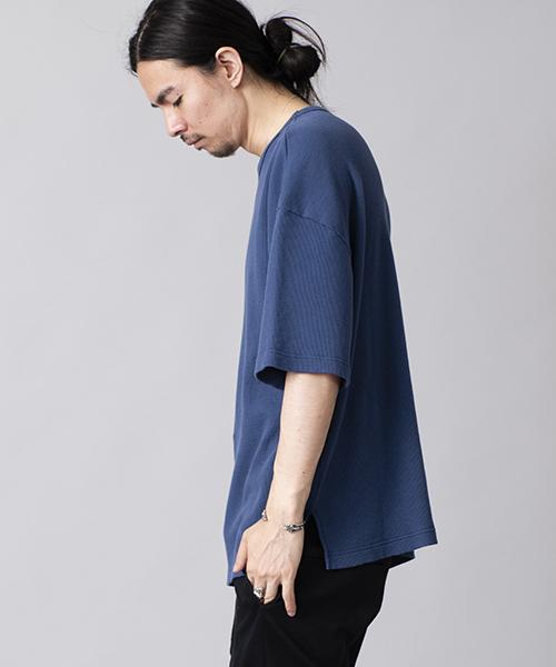 mt5218-Cワッフル半袖BIG-T Tシャツ