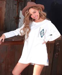 anap mimpi(アナップミンピ)のポケットオルテガ刺繍チュニック(Tシャツ/カットソー)
