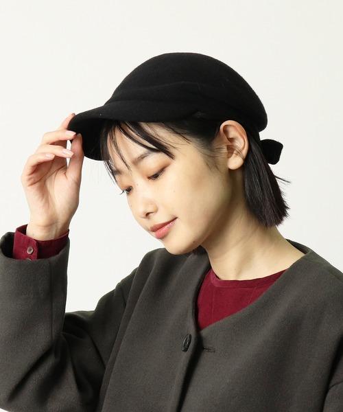 ∴ 【 kopka / コプカ 】 ウールリボンキャップ Woollen Visor Cap