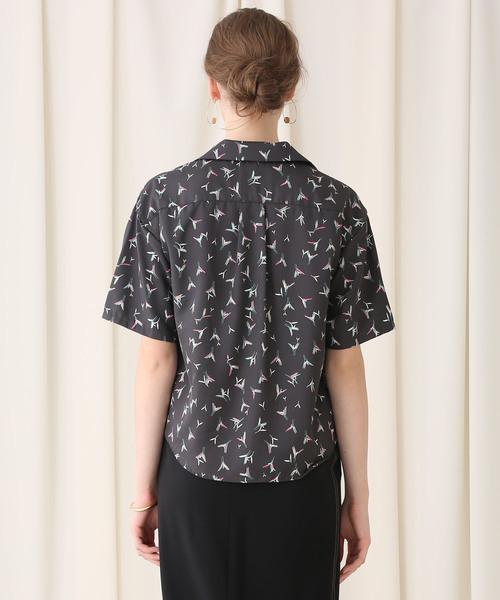 【STUDIOUS】オープンカラー リラックスシャツ