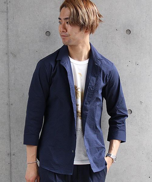経典ブランド HIGH HIGH STREET∴サッカー7分袖ショートウイングシャツ(シャツ/ブラウス)|HIGH STREET(ハイストリート)のファッション通販, 人気ブランドの:dd2ade2d --- skoda-tmn.ru
