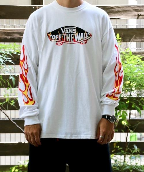 VANS(バンズ)の「VANS/ヴァンズ FIRE PATTERN OTW L/S T-SHIRTS(Tシャツ/カットソー)」|ホワイト