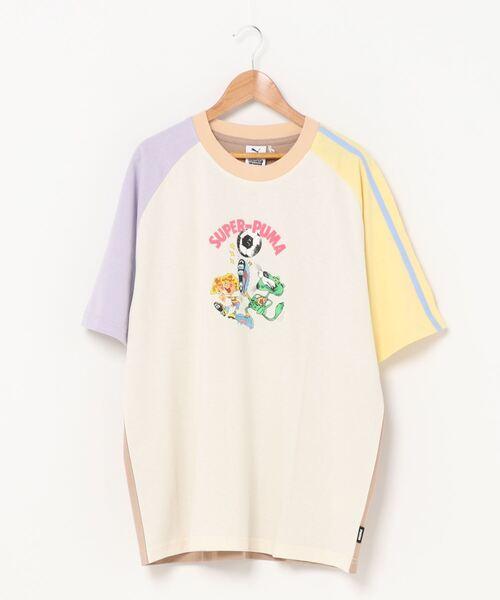 PUMA(プーマ)の「PUMA x KIDSUPER STUDIOS カラーブロック 半袖 Tシャツ(Tシャツ/カットソー)」|ホワイト
