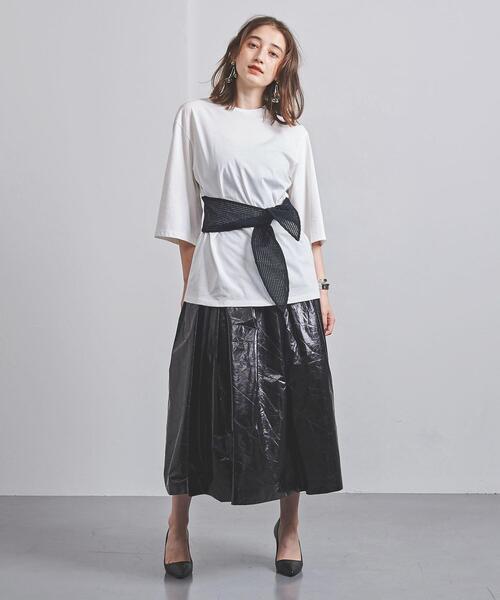 <AKIRA NAKA(アキラ ナカ)>リボンベルト Tシャツ ■■■
