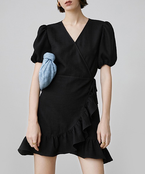 【Fano Studios】【2021SS 先行予約】V-neck frill short dress FX20L145