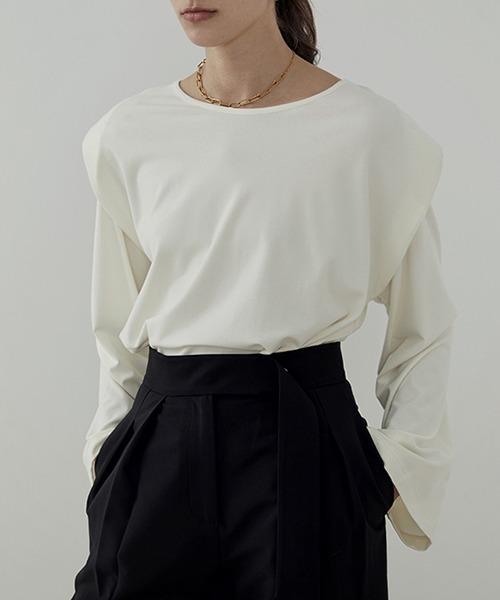 【UNSPOKEN】Double sleeve tops  UC21S006