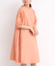 l'atelier du savon(アトリエドサボン)のフロスターツイル          袖刺繍OP(ドレス)