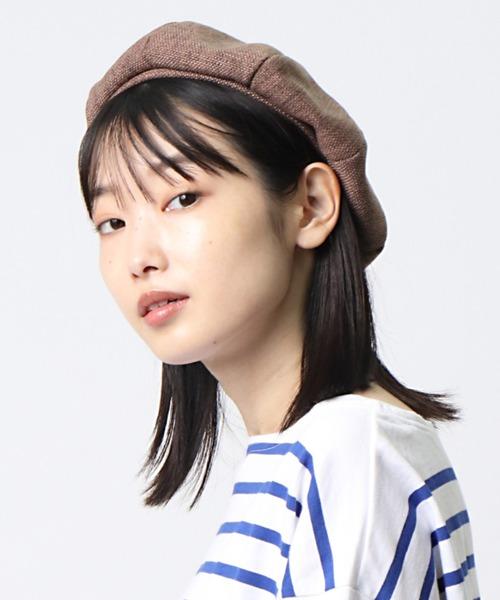 ∴リネン風ベレー帽