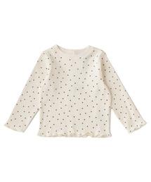 petit main(プティマイン)のオーガニックテレコメロー長袖Tシャツ(Tシャツ/カットソー)