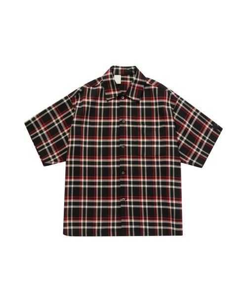 SPRING2020 HALF SLEEVE BIG SHIRT【N.HOOLYWOOD REBEL FABRIC BY UNDERCOVER】