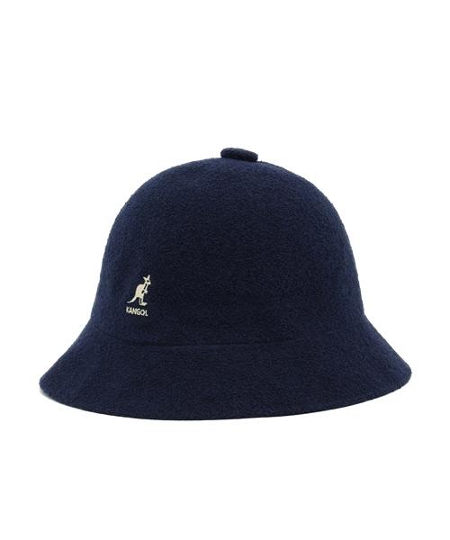 Navy Blue Kangol Bermuda Casual Bucket Hat