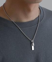 チャームネックレス/ロングチェーンネックレス 真鍮 /MONO-MART Selectシルバー