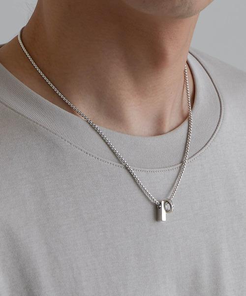 チャームネックレス/ロングチェーンネックレス 真鍮 /MONO-MART Select