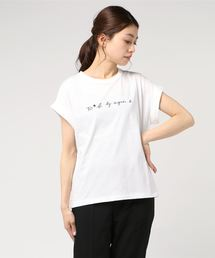 To b. by agnes b.(トゥービーバイアニエスベー)のW984 TS ロゴTシャツ(Tシャツ/カットソー)