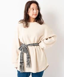 Kastane(カスタネ)のワッフル裾ラウンドプルオーバー(Tシャツ/カットソー)