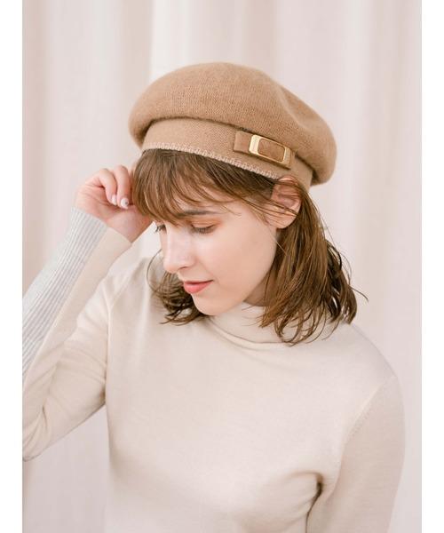 Athena New York(アシーナニューヨーク)の「【AthenaNewYork】Naomi Beret(ハンチング/ベレー帽)」|ブラウン