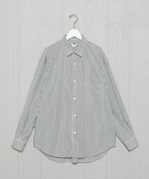 <H>STRIPE BALLOON SHIRT/シャツ