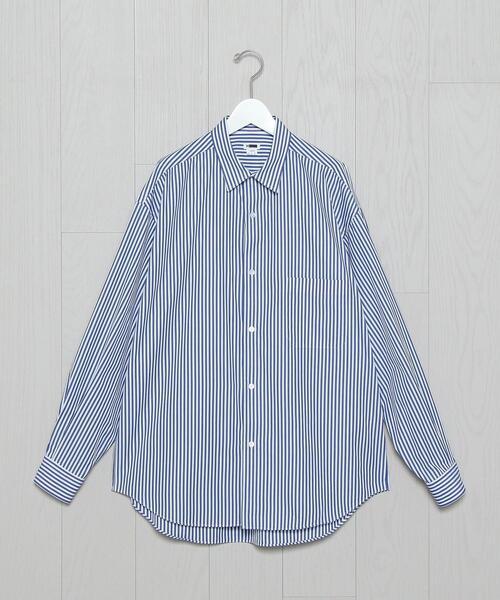 <H>STRIPE BALLOON SHIRT/シャツ