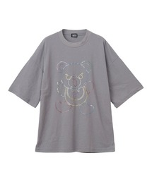 HYS BEAR刺繍 オーバーサイズTシャツグレー