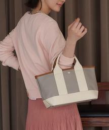 TOPKAPI(トプカピ)の【日本製】スコッチグレインフェイクレザー・ミニトートバッグ(トートバッグ)
