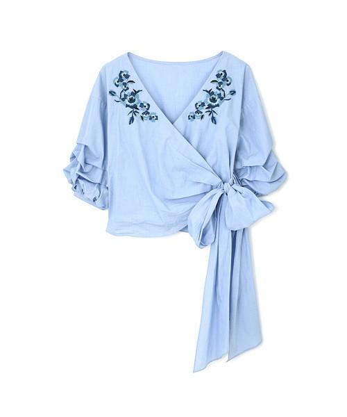 ◆ブルーニカシュクールシャツ