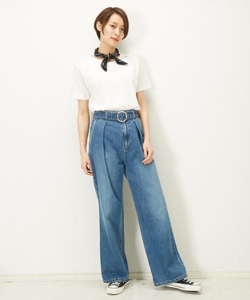 CONVERSE TOKYO バンダナ付き刺繍Tシャツ