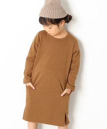 devirock(デビロック)のまるで着る毛布 裏シャギー膝丈スウェットワンピース 裏起毛(ワンピース)