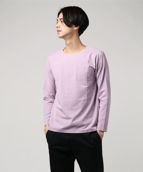 【ノンストレス】COTTON LYCRA圧着クルーネックTシャツ